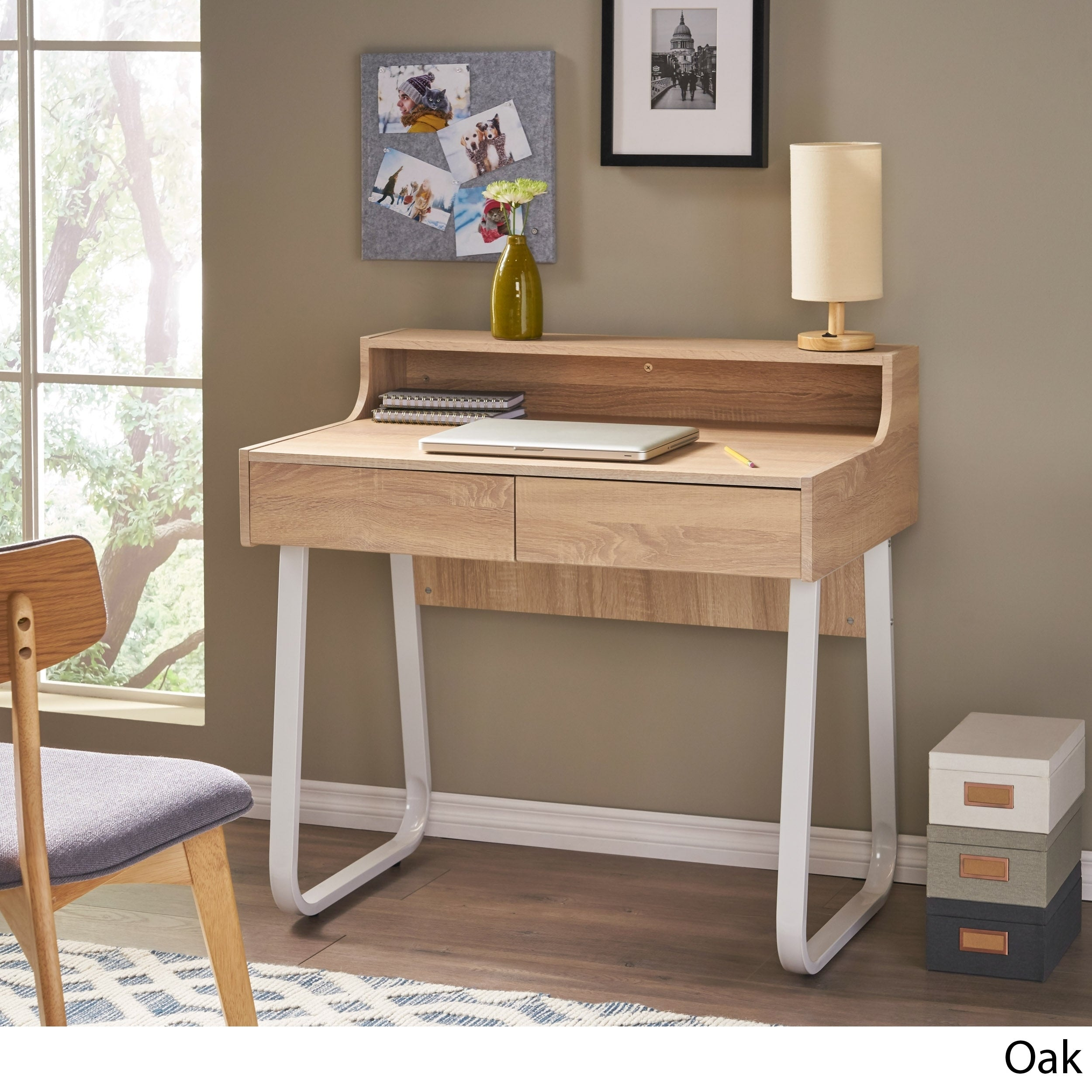 Picture of: Seanan Wood Computer Desk With Drawers By Christopher Knight Home On Sale Overstock 11199203