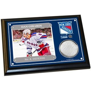 Dan Girardi 4x6 Player Plaque w/ Game Used Uniform