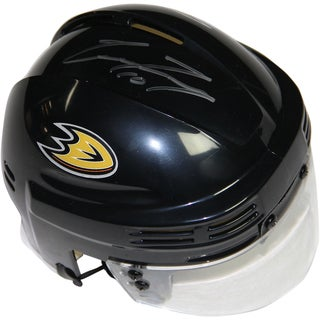 Corey Perry Signed Black Anaheim Ducks Logo Mini Helmet