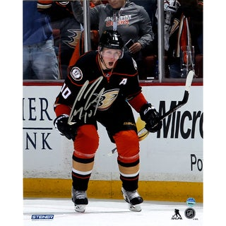 Corey Perry Anaheim Ducks Celebrates OT Goal Against Colorado Avalanche Signed 8x10 Photo