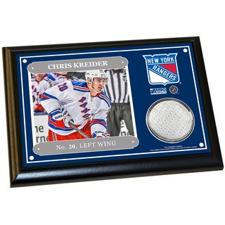 Chris Kreider 4x6 Player Plaque w/ Game Used Uniform Swatch