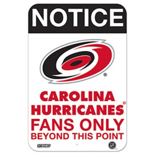 Carolina Hurricanes Fans Only 8x12 Aluminum Sign