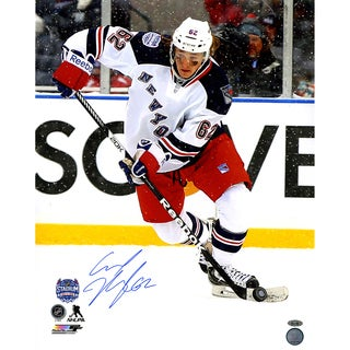 Carl Hagelin Signed Vertical Skate Stadium Series 16x20 Photo