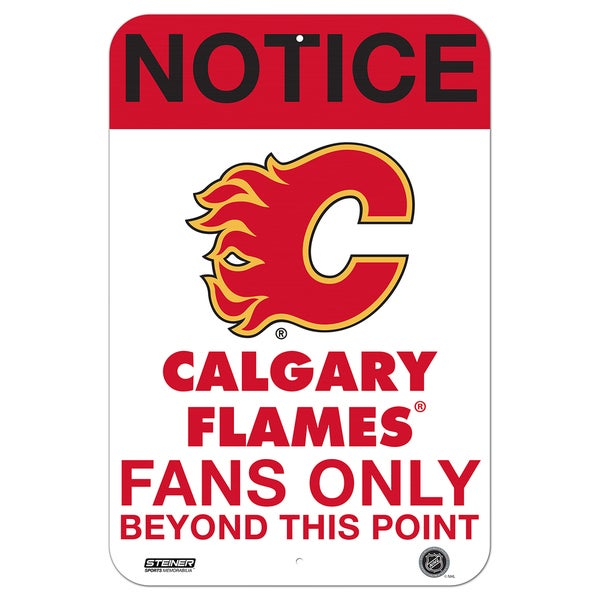 Calgary Flames Fans Only 8x12 Aluminum Sign