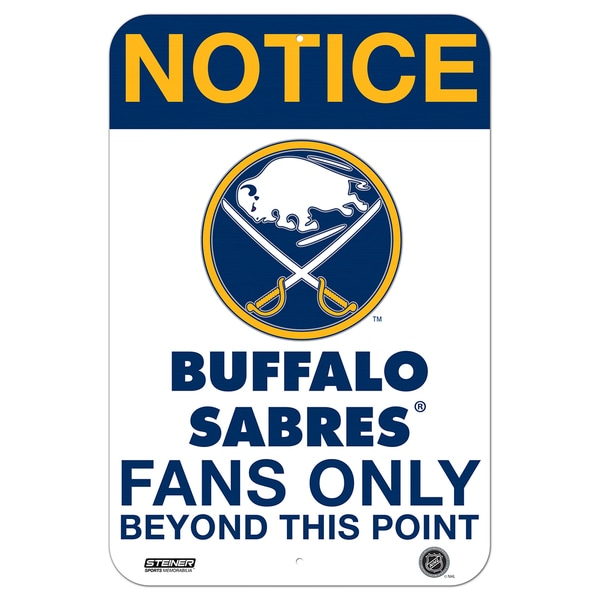 Buffalo Sabres Fans Only 8x12 Aluminum Sign