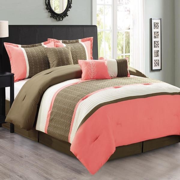 Fashion Street Seventeen 7-piece Comforter Set