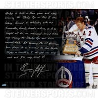 Brian Leetch Signed 16x20 Conn Smythe 16x20 Story Photo