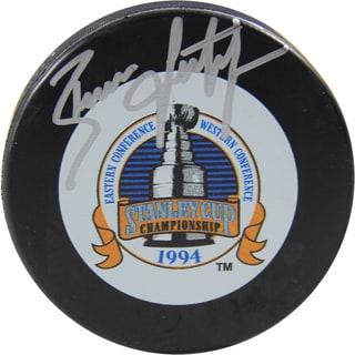 Brian Leetch Autographed 1994 Stanley Cup Puck