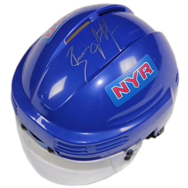 Brian Leetch Signed New York Rangers Blue Replica Mini Helmet