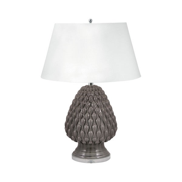 Raindrop Ceramic Table Lamp In Grey