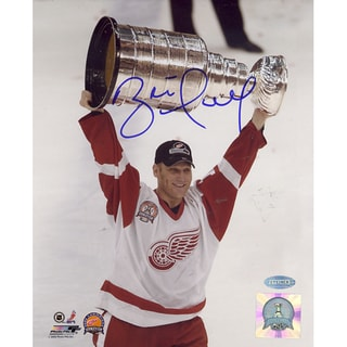 Brett Hull Red Wings 2002 Stanley Cup Overhead Vertical 8x10 Photo