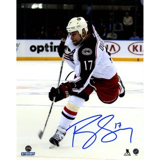Brandon Dubinsky Signed Blue Jackets Slap Shot 8x10 Photo