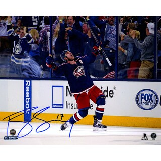 Brandon Dubinsky Signed Blue Jackets Celebration 8x10 Photo
