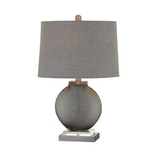 Elk Lighting Simone 1 Light Grey And Pewter Table Lamp