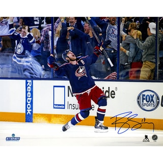 Brandon Dubinsky Signed Blue Jackets Celebration 16x20 Photo
