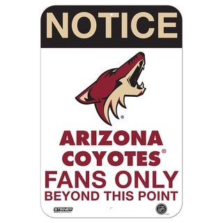 Arizona Coyotes Fans Only 8x12 Aluminum Sign