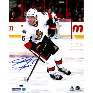 Bobby Ryan Signed Skating Against the Anaheim Ducks 8x10