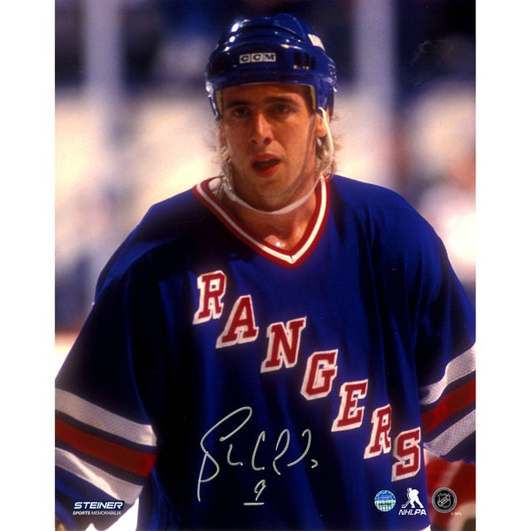 Bernie Nicholls Signed NY Rangers 8x10 Photo