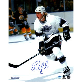 Bernie Nicholls Signed LA Kings 8x10 Photo