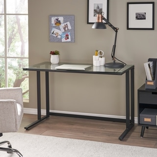 Eghan Glass Computer Desk by Christopher Knight Home