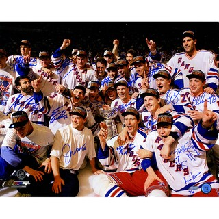 1994 New York Rangers Team Signed Celebration 16x20 Photo (LE of 66) (17 Sigs)