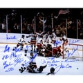1980 USA Hockey Team Signed 16x20 Photograph w/