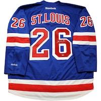 c77ecdc8f51 Shop Martin St. Louis Signed New York Rangers Blue Premier Jersey w ...