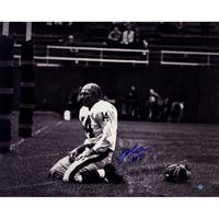 "YA Tittle Signed Agony of Defeat Blood 16x20 Metallic Photo w/""HOF 71""Insc."