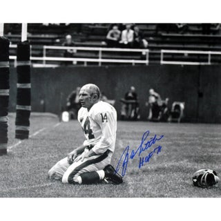 "Y.A. Tittle Agony of Defeat Blood 8x10 Photo w/ ""HOF"" Insc"
