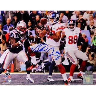 Victor Cruz Signed Super Bowl XLVI Touchdown Horizontal 16x20 Photo