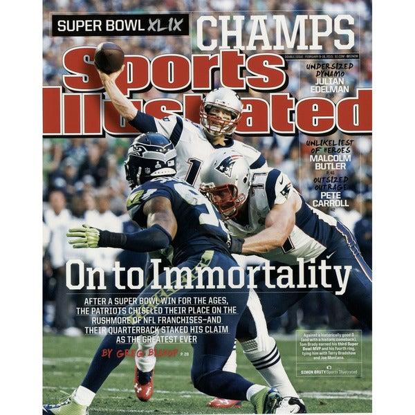 Tom Brady Sports Illustrated Superbowl 49 16x20 Photo