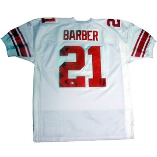 Tiki Barber 2005 Giants Authentic White Jersey