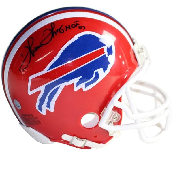 Thurman Thomas Signed Red Bills Mini Helmet w/ HOF 07 insc