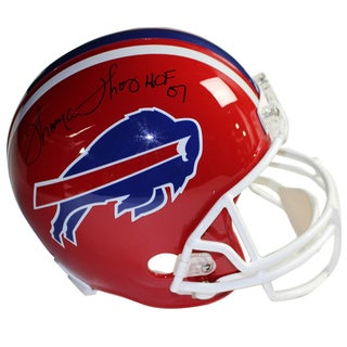 "Thurman Thomas Signed Buffalo Bills Red Replica Helmet w/ ""HOF"" Insc."