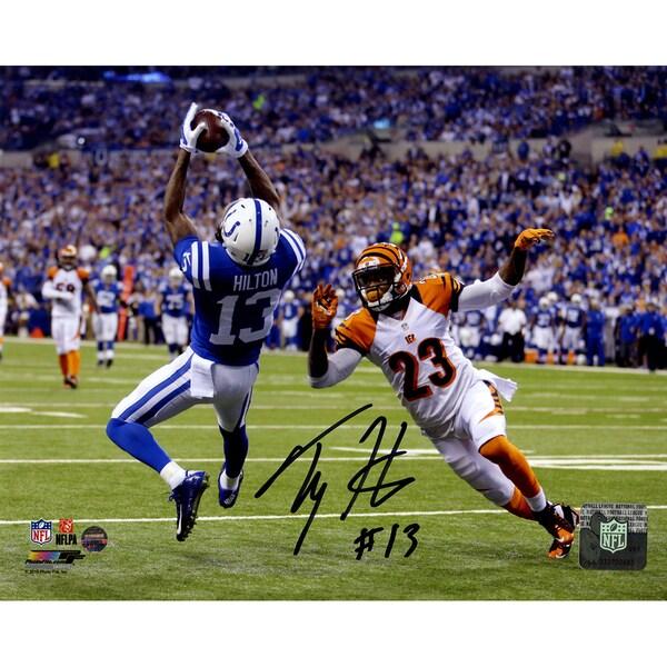 T.Y. Hilton Signed Falling Backwards Catch 8x10 Photo