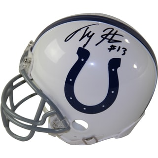 T.Y Hilton Signed Indianapolis Colts Riddell Mini Helmet
