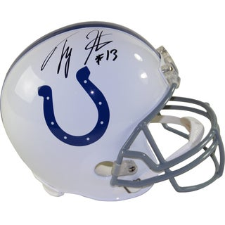 T.Y Hilton Signed Indianapolis Colts Riddell Full Size Replica Helmet