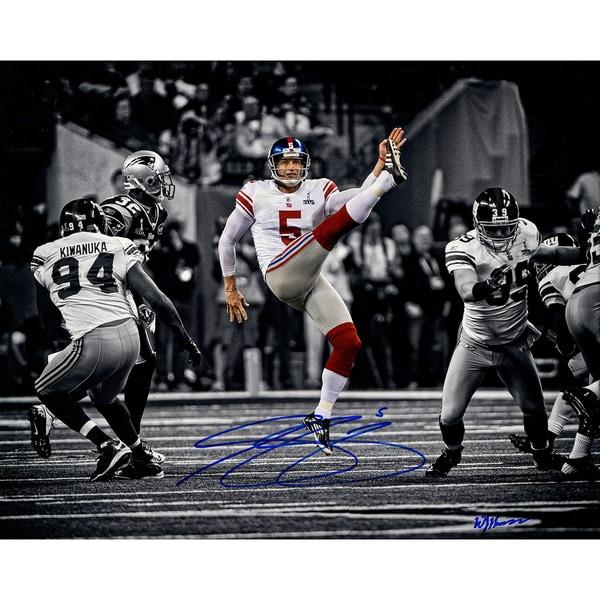 Steve Weatherford Super Bowl Punting 16x20 Photo