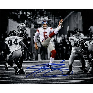 Steve Weatherford Signed Punting in Super Bowl 8x10 Photo