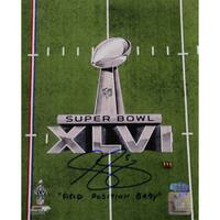 "Steve Weatherford SB XLVI Logo Vertical 8x10 Photo w/ ""Field Position Baby"" Insc."