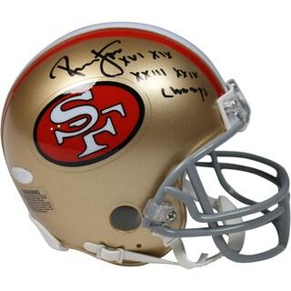 Ronnie Lott Signed San Francisco 49ers Mini Helmet w/ SB XVI, XIX, XXIII, XXIV Champs Insc