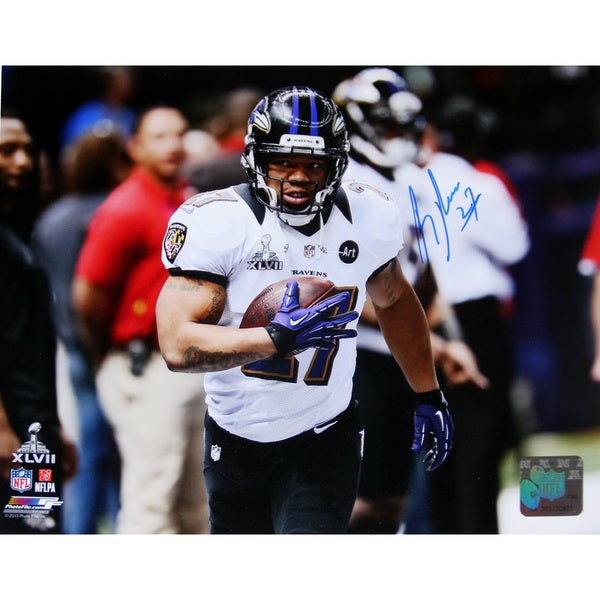 Ray Rice Super Bowl XLVII Signed 8x10 Photo