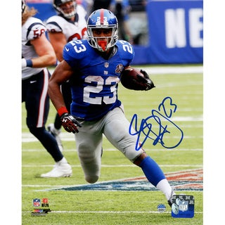 Rashad Jennings Signed New York Giants Run vs. Houston Texans 8x10 Photo