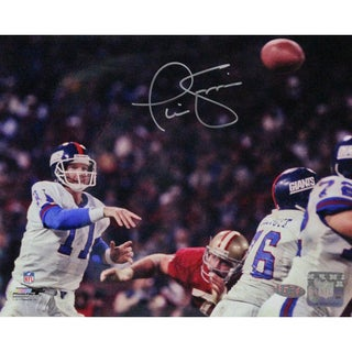 Phil Simms Signed 8x10 Photo vs San Francisco 49ers