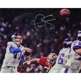 Phil Simms Signed 8x10 Photo vs San Francisco 49ers