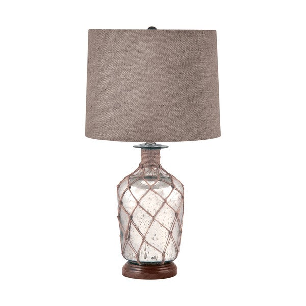 Jute-Wrapped Mercury Glass Table Lamp
