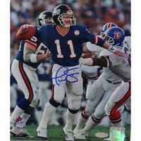 Phil Simms Signed 8x10 Photo vs Denver Broncos