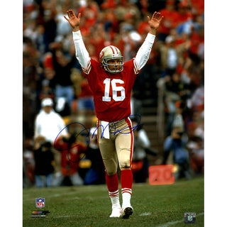 Joe Montana Touchdown Signal Signed 16x20 Photo
