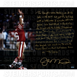 Joe Montana Signed The Drive 16x20 Story Photo