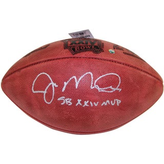 "Joe Montana Signed Super Bowl XXIV Football w/ ""SB XXIV MVP"" Insc."